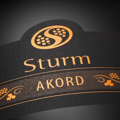 Šturm · etikete za vina