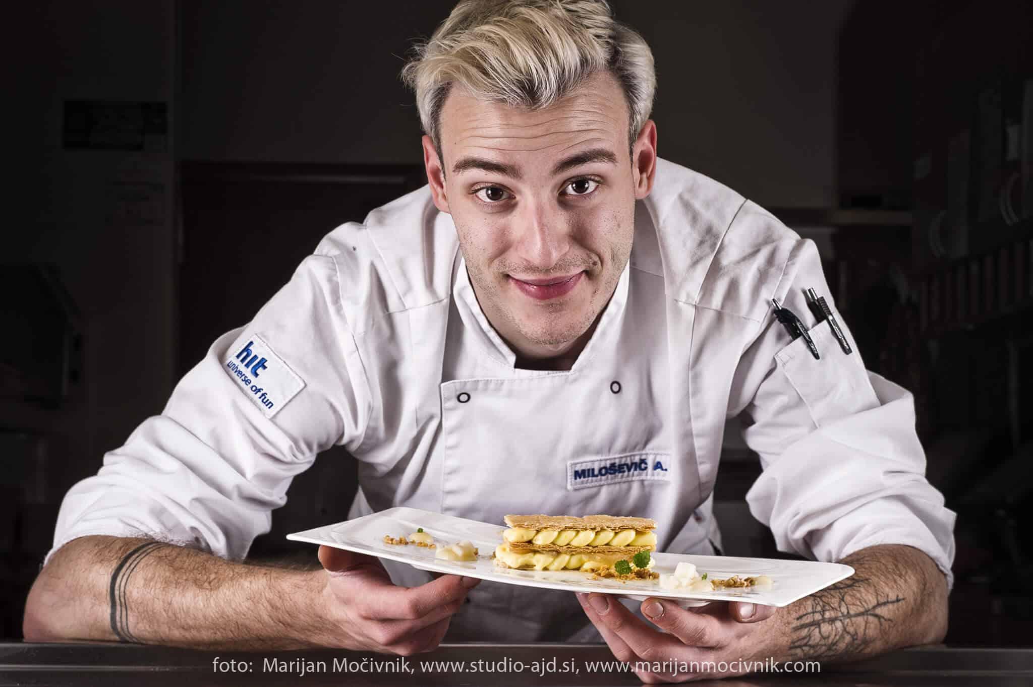 Alen Milosevic Arbi v kuhinji Perline restavracije Calypso.