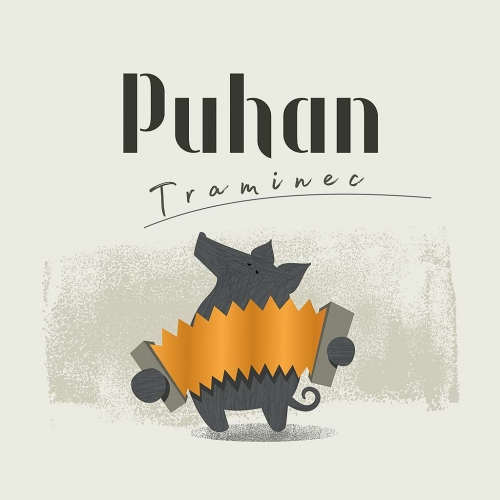 Puhan – logotip ter etiketa za vina in olje